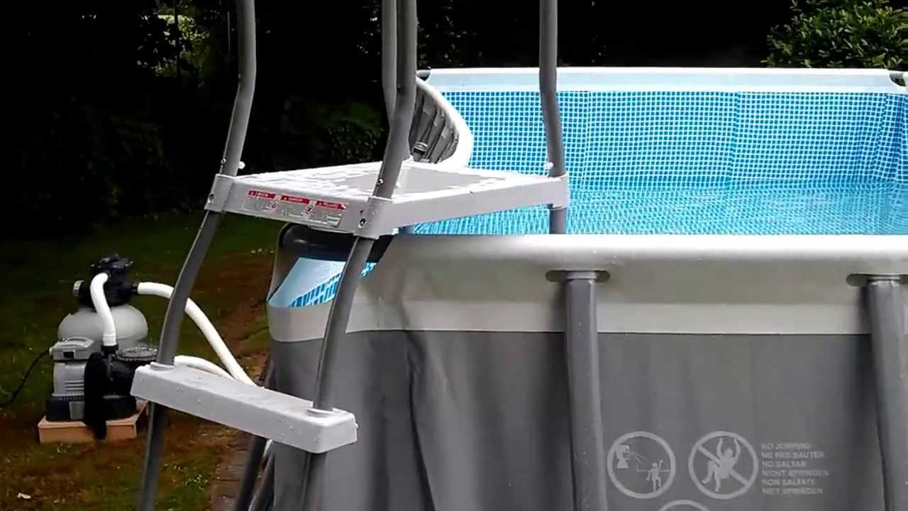 Intex Ultra Frame Pool Seitenwand Krumm Schief. (1) - YouTube