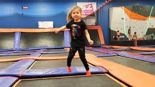Jumping At The Trampoline Park