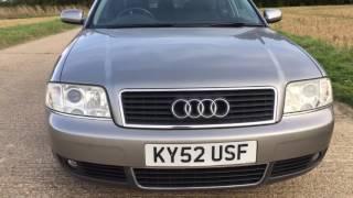 2002 AUDI A6 1.9 TDI TURBO DIESEL ENGINE MANUAL VIDEO REVIEW