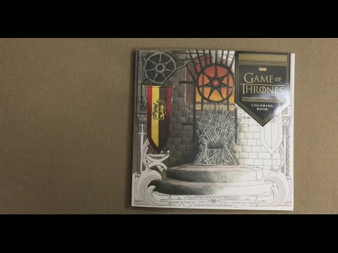 Hbo Game Of Thrones Coloring Book Flip Through Youtube