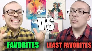 Anthony Fantano's FAVORITE vs LEAST FAVORITE Rap Albums