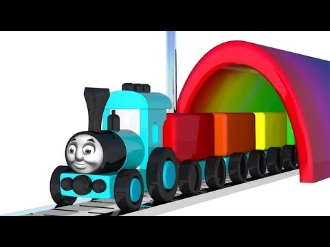 Learning Colors with Color Thomas Toy Train with Color Balls - Colors4Kids
