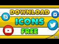 How To Download Social Media Icons For Free! 2016 - YouTube