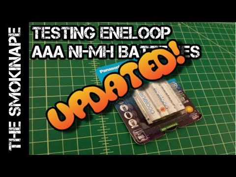 UPDATED - Eneloop AAA Ni-MH Rechargeable Batteries 4th Generation Capacity Test - TheSmokinApe