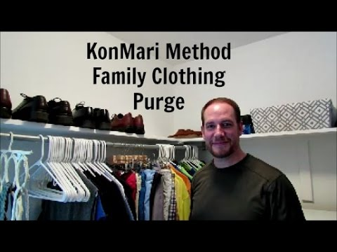 KonMarie Method   Family Clothing Purge & Closet Clean Out   How Jen Does It