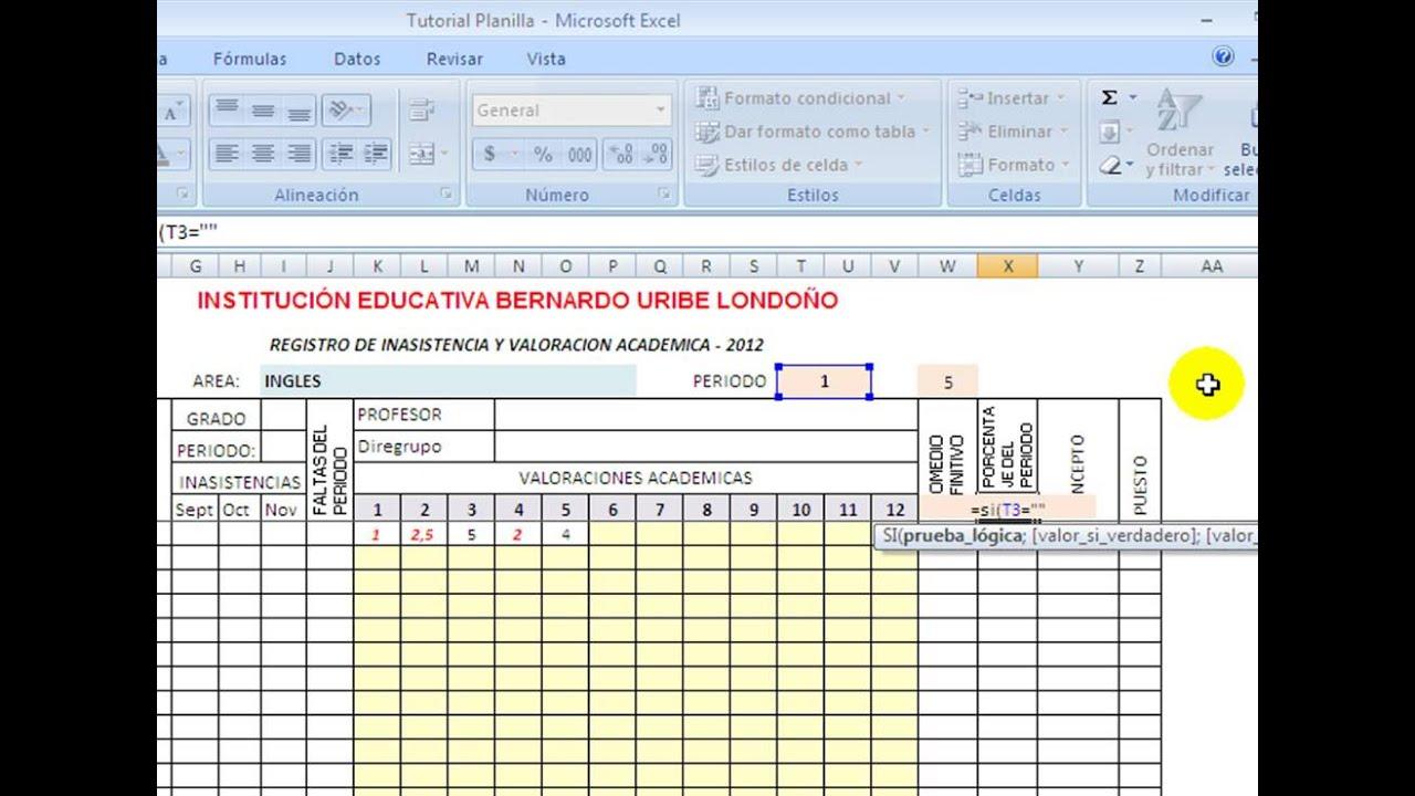 Excel Tutorial Video