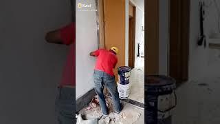 pemasangan pintu kayu nyatoh