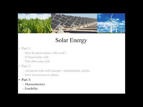 Solar Energy (Part 3)