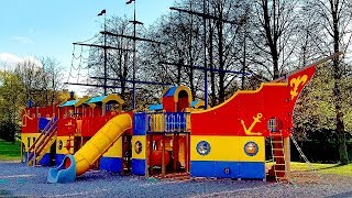 Детская Площадка в Виде Корабля. Видео от Первого Лица. Детская Площадка Обзор от Первого Лица