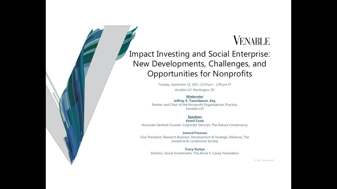 Impact Investing and Social Enterprise: New Developments, Challenges, and  Opportunities
