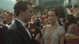 Primetime Emmy 61 Red Carpet Interview - Olivia Wilde