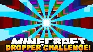 Minecraft THE DROPPER CHALLENGE (Custom Dropper Map) | w/ PrestonPlayz & MrCrainer