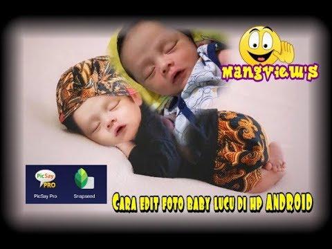 Edit foto bayi lucu pakai baju blankon jawa. Imut banget ...