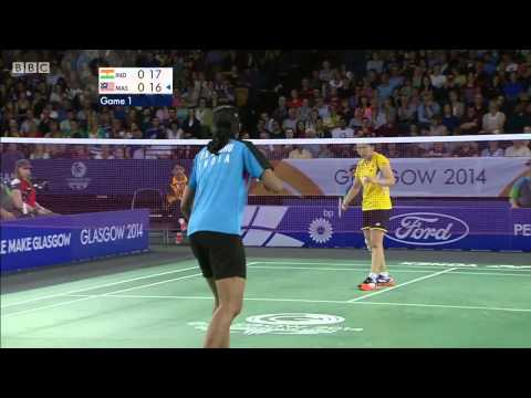 WS Bronze - P.V. Sindhu vs TEE J.Y. - 2014 Commonwealth Games badminton