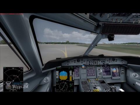 Landing Gdansk cockpit view Dash / lądowanie w Gdańsku