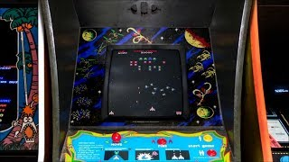 Galaga Tilted Screen Overlay for Retroarch