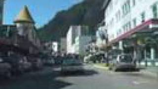 Summer drive thru Downtown Juneau Alaska