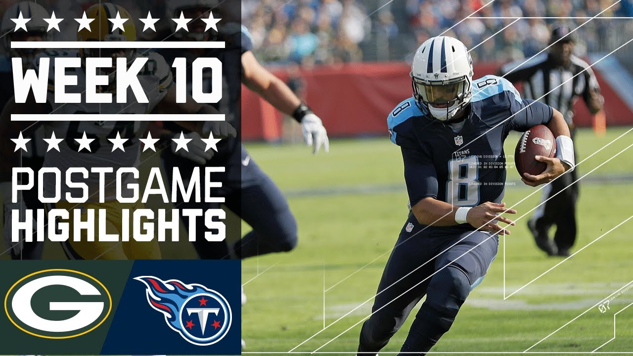 Packers Vs Titans Nfl Week 10 Game Highlights Youtube