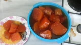 #Kabak Reçeli Dışı Kıtır Kıtır İçi Lokum Gibi / #pumpkin jam recipe #kabakreçeli