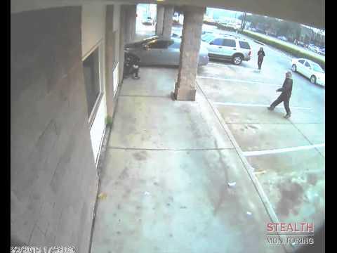 Car Flips Man and Rams Shopping Center - Security