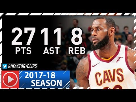 LeBron James Full Highlights vs Pacers (2018.01.12) - 27 Pts, 11 Ast, 8 Reb