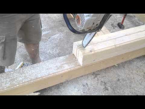 Соединение тёплый угол и другие соединения, используемые при строительстве домов из бруса
