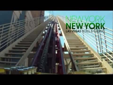 "Las Vegas ""New York, New York"" Hotel Roller Coaster Ride"