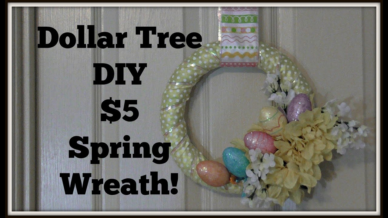 Dollar Tree Decor 5 DIY Spring Wreath