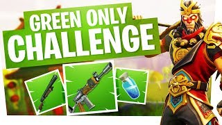 Green Only Challenge Victory in Fortnite Battle Royale