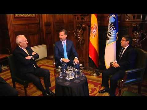 S.M. el Rey se reunión con el Presidente del BID, Luis Alberto Moreno
