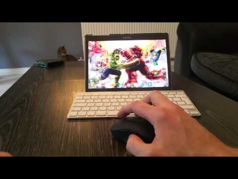 Apple Keyboard & Sandstrom Mouse On Android Tablet