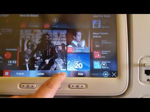 Turkish airlines B 777-300 in flight entertainment system