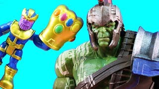 Playskool Heroes Team Thanos Vs. Gladiator Hulk + Incredibles 2 Violet Goes Invisible