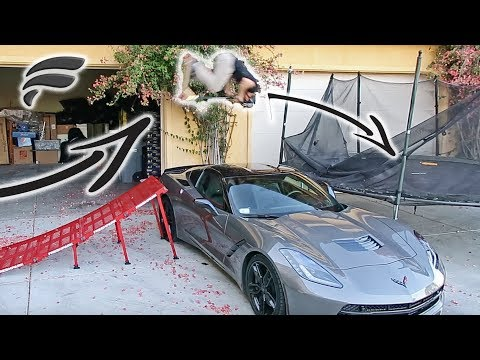 Thumbnail: FLIPPING OVER $70,000 CAR TO TRAMPOLINE!