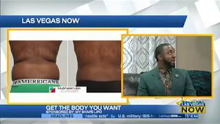 Myshape Lipo on CBS in Las Vegas with USA brand ambassador Jeremy Washington