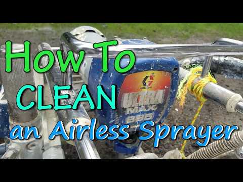 How to Clean an Airless Paint Sprayer House Painting Tutorial