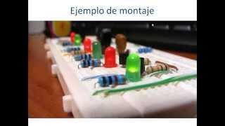 Como utilizar una Protoboard, conexión de componentes.