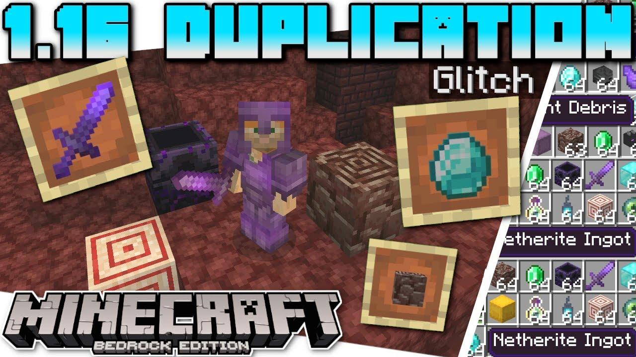 Minecraft Bedrock 1 16 DUPLICATION GLITCH ( NEW   ANYTHING