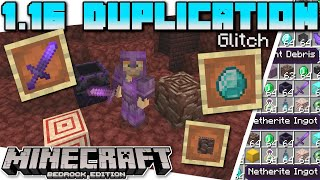 Minecraft Bedrock - 1.16 DUPLICATION GLITCH ( NEW + ANYTHING ) ( Tutorial ) Xbox,PS4,Switch,Windows