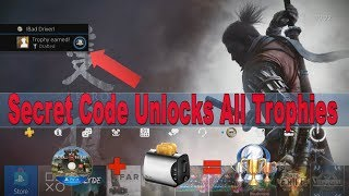 PS4 Secret Code Unlocks All Trophies? | Tutorial How to Break the Game and PS4