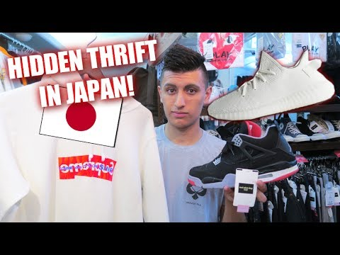 Thrift Shopping in JAPAN! YEEZYS, SUPREME and MORE! | Japan Vlog l SneakerTalk