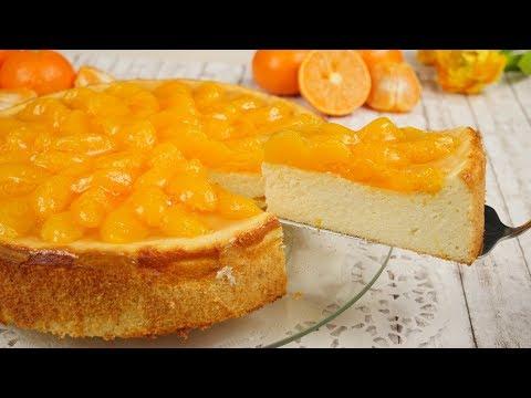 Mandarinen Käsekuchen ohne Boden / frischer & saftiger Quarkkuchen / Mandarinenkuchen
