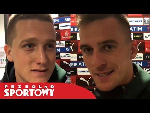 Milik i Zieliński po meczu AC Milan - Napoli i debiucie Piątka