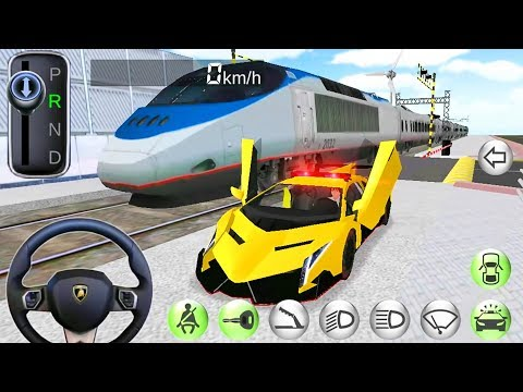 3D Driving Class - Police Cars and Train - Best Android Gameplay #2