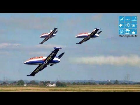 HORIZON DISPLAY-TEAM 3X AERO L-39 ALBATROS RC TURBINE JET FORMATION FLIGHT GERMAN CHAMPIONSHIP