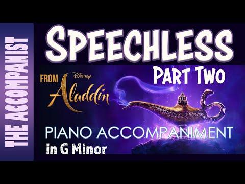 Speechless (Part 2) - From The Disney Live Action Movie Aladdin - Piano Accompaniment - Karaoke