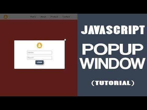 JavaScript Popup Window - Popup Login Form