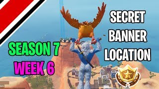 Fortnite Season 7 Week 6 Secret Banner / Battlestar Location (Snowfall Challenges)