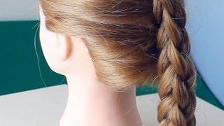 Квадратная 3D коса из 3 прядей. Box (four-sided) French or 3D 3 strand braid tutorial.