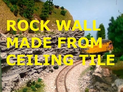 Scenery Idea Model Railroad Rock Wall Made From Ceiling